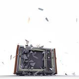 Tv exploding Stock Photography