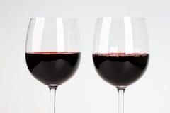 Två exponeringsglas av vinen Arkivbilder