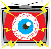 TV Eye Illustration Stock Image