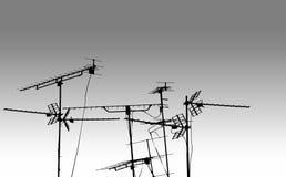 tv för antennantennbw Arkivbilder