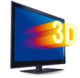 tv för crystal flytande för färg 3d set Fotografering för Bildbyråer
