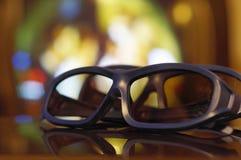 TV för exponeringsglas 3D Arkivbilder