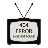 tv för 404 fel Royaltyfri Fotografi
