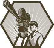 tv för film för kameradirektörfilm Royaltyfri Bild