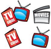 tv för handboksymbolsmedel vektor illustrationer