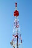 tv för kommunikationstorn Royaltyfri Fotografi