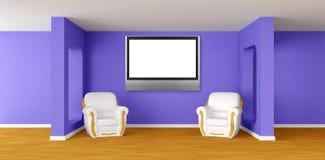 tv för lokal för fåtöljlcd modern royaltyfri illustrationer
