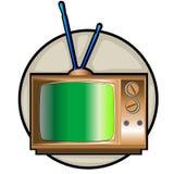 tv för set för konstgem retro Fotografering för Bildbyråer