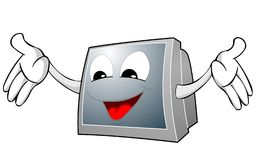 TV face and hands Royalty Free Stock Images