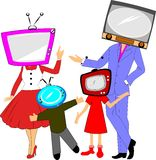 Tv family concept Stock Images