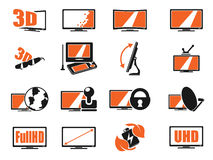 TV features and specifications Stock Image