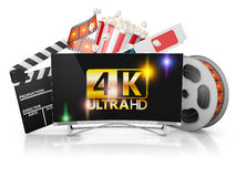 TV and film strip Royalty Free Stock Image