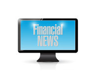 Tv financial news illustration design. Over a white background Stock Photos