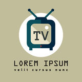 TV. Flat icon of television. Display Royalty Free Stock Photography