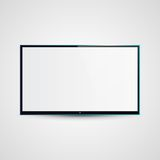 TV Flat Screen Icd Illustration Royalty Free Stock Photography