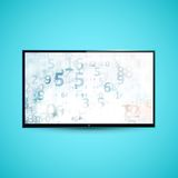 TV Flat Screen Icd Illustration Stock Image