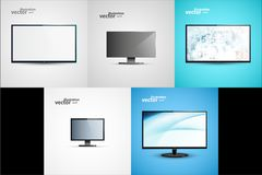 TV Flat Screen Icd Illustration Stock Images