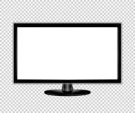 TV flat screen lcd monitor realistic vector illustration.  royalty free illustration