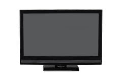 TV flat screen lcd, photo isolated on white Royalty Free Stock Images