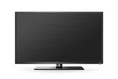 TV flat screen lcd, plasma realistic illustration, tv mock up. Royalty Free Stock Image
