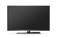 TV flat screen lcd, plasma realistic illustration, tv mock up. Royalty Free Stock Image