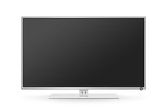 TV flat screen lcd, plasma realistic illustration. Royalty Free Stock Photo
