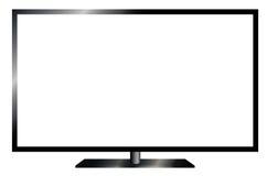 TV flat screen lcd, plasma realistic . LSD electronics TV screen . Vector illustration Stock Images