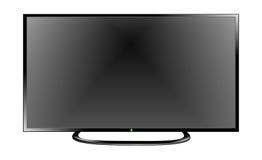 TV Flat Screen Lcd, Plasma Realistic Vector Illustration. Stock Images