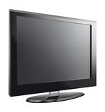 TV flat screen lcd, plasma realistic vector illustration. Stock Photos