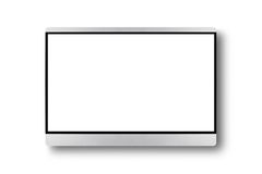 TV flat screen lcd on a wall, plasma realistic tv mock up. Black Stock Photography