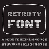 TV Font. Vector font stylized under the old TV Stock Image