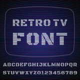 TV Font Stock Photo