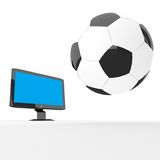 TV football Stock Photo