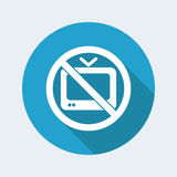 Tv forbidden. Vector illustration of single isolated icon depicting a tv forbidden Stock Images
