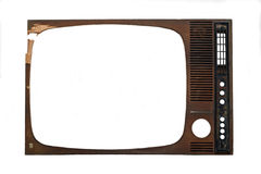 Tv frame. Retro tv frame on white background Royalty Free Stock Photo