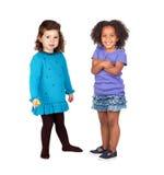 Två förtjusande små flickor Arkivbild