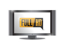 Tv with Full HD. High definition button. Royalty Free Stock Photography