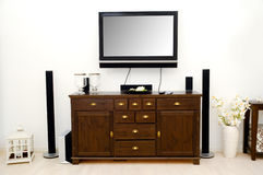 Tv and furniture in room. Room with tv and furniture Stock Images