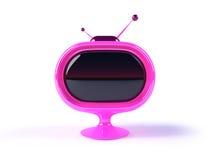 TV futurista retra Imágenes de archivo libres de regalías