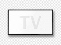TV-geïsoleerde het scherm lcd paneelmodel Lege televisie Vector illustratie Royalty-vrije Stock Foto's
