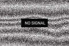 TV Geen Signaal het statische scherm 4k, volledige hdresoluties Vector Vector Illustratie