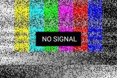 TV Geen Signaal het statische scherm 4k, volledige hdresoluties Vector Royalty-vrije Illustratie