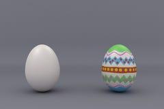 Två ägg Arkivfoto