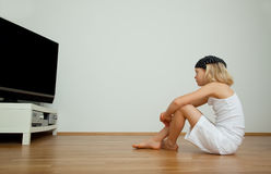 Tv girl Stock Photography