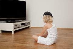 Tv girl Royalty Free Stock Image