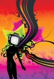 Tv girl abstract illustration Stock Photos