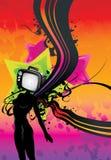 Tv girl abstract illustration Stock Photos