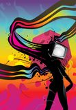 Tv girl abstract illustration Royalty Free Stock Photo
