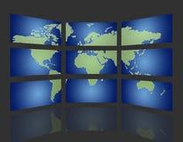 TV globale Fotografia Stock Libera da Diritti