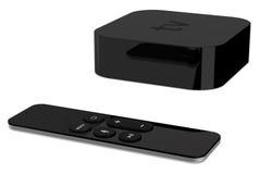 Tv gracza pudełka przyrząd z dalekim radio pilotem obrazy stock